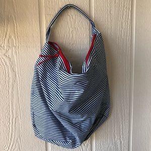 Lancôme Blue & White Stripe Beach Bag